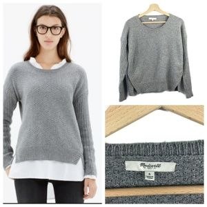 Madewell Texturemix Pullover Cropped Sweater